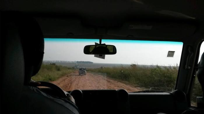 The road from Kinshasa to Bandundu, in DRC